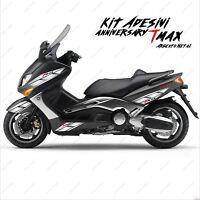 ADESIVI ANNIVERSARY CARENA COMPATIBILE YAMAHA TMAX T-MAX 01 07 ARGENTO ROSSO