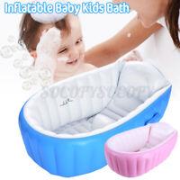 Inflatable Baby Kids Bath Folding Travel Bathing Wash Tub Bathtub Shower Basin