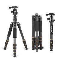ZOMEIQ666C Portable Carbon Fiber Camera Tripod Monopod&Ball Head for DSLR Camera