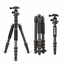Q666C Carbon Fiber Pro Digital Camera Tripod Monopod Ball Head For Travel Camera
