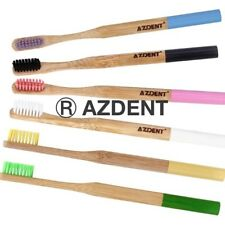AZDENT® 100%NATURAL BAMBOO/WOODEN TOOTHBRUSH ECO FRIENDLY BPA FREE BIODEGRADABLE