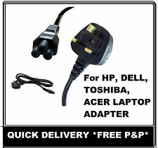 Laptop Charger 3 Pin PC Cable Power Cord UK Plug for HP Advent Toshiba samsung