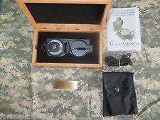 CAMMENGA USGI MILITARY TRITIUM LENSATIC COMPASS in CHERRY PRESENTATION GIFT BOX