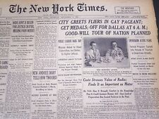 1930 SEPTEMBER 4 NEW YORK TIMES - WIDE HUNT BEGUN FOR JUSTICE CRATER - NT 4935