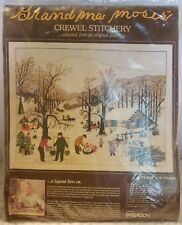 Grandma Moses Crewel Stitch  Kit Sugaring Off Paragon Needlecraft Embroider 0200
