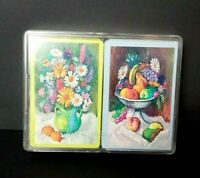 Vintage Whitman Floral Fruit Double Deck Playing Cards Paper Craft Junk Journal