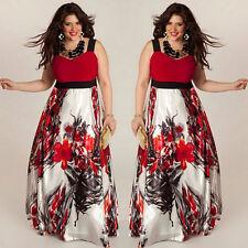 Women Plus Size Sleeveless Floral Long Maxi Dresses Evening Party Cocktail Dress