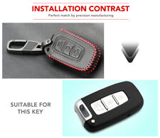 Leather Car Remote Key Holder Case Cover For Hyundai Solaris I30 IX35 Tucson Key