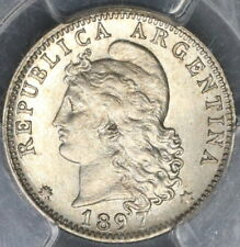 1897 PCGS MS 62 ARGENTINA 20 centavos Liberty Head Coin POP 1/0 (16112410C)