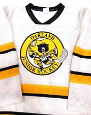 Oakland Junior Hockey Jersey shirt size S Athletic Knit - Made in Canada #A18