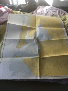Vtg Nautical Chart C&GS 908: Bahia De San Juan, 24th ed 11/8/65 rev. 9/12/66
