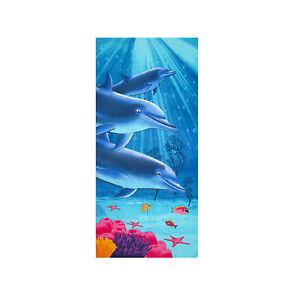 Dolphin Ocean Beach Towel,100% Cotton Soft Absorbent Bath Towel