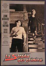 Fotobusta LA STRADA DEL CRIMINE 1964 RARA! STUART WHITMAN JOANNE WOODWARD  MGM