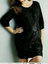 BEAUTIFUL NEXT LEATHER SEQUINED BLACK DRESS SIZE 12 MATERNITY BNWT
