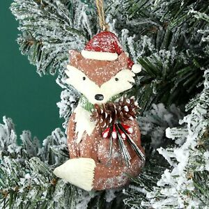 Woodland Fox Christmas Tree Decoration - Novelty Christmas Fox Decoration