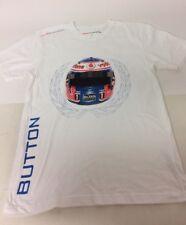 Vodafone McLaren Mercedes Jensen botón Crash Casco Blanco Camiseta Talla XS