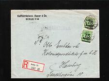 Germany Inflation Vertical Pair 150,000 Mark Berlin Coffee Roaster Rauer 1923 ¼