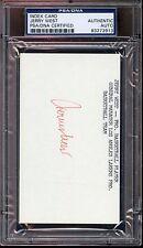Jerry West Autographed Index Card PSA/DNA Authentic