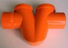 SIFONE ORIZZONTALE PVC PLASTICA rosso arancio mm 100 scarico acqua pozzetto