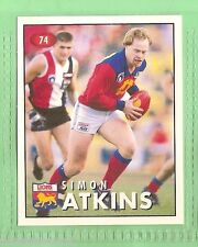 1996 AFL SELECT  STICKER  #74  SIMON ATKINS,  FITZROY LIONS