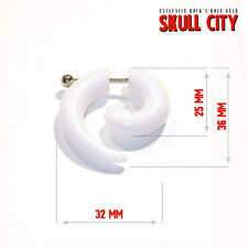 WHITE FAKE SPIRAL X-LARGE- Fake Spirale - Fakespiral weiss Piercing Ear Plug