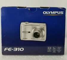 Olympus FE-310 Digital Silver Camera Video 8 MP 5 X Optical Zoom 2.5 LCD Working