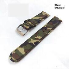 Uhrband Uhrenarmband Armband Uhrenband Ersatzband - 20mm - camouflage - multifit