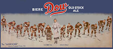 """1932-33 Montreal Maroons """"Dow Old Stock Ale"""" Panoramic Ad - 10""""x24"""" Photo"""