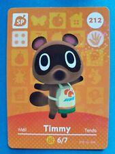 212 Timmy Animal Crossing Amiibo Card Single - Series 3 Near Mint US Version