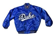 Preowned- Colosseum Duke Blue Devils Button Front Satin Jacket Mens (Size M)