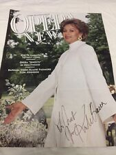 SOPRANO Kiri Te Kanawa autograph, In-Person signed Opera News Cover NM!