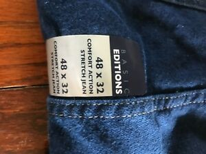 Men/'s NWT Basic Editions Navy Blue Casual Pants 48 x 30 flat front NEW