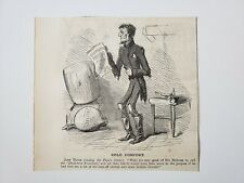 Jefferson Davis Cold Comfort 1864 Civil War Cartoon