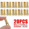 20X 5.5mm Male & Female Gold plated Banana Bullet Plug Connectors For RC Battery
