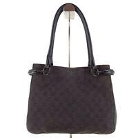 GUCCI Canvas Leather Guccissima Supreme GG Monogram Tote Shoulder Bag in Black