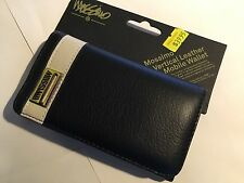 Mossimo Leather Universal iPhone 4,4S Mobile Phone Wallet Pouch - Black LM-800BW