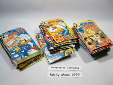 Micky Maus  Jahrgang 1999 / Nr. 1-52 komplett mit Beilagen Ehapa Verlag  71321