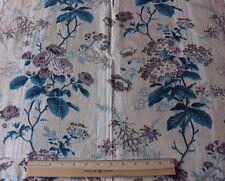 Antique French Botanical Floral HandBlocked Chintz Textile Fabric c1840-1850