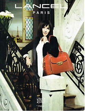 PUBLICITE ADVERTISING 075  2009  LANCEL  maroquinerie sac Isabelle Adjani