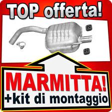 Silenziatore posteriore ALFA ROMEO 147 1.6 2.0 16V TWIN SPARK 2000-2010 ABF
