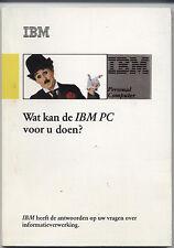 """ITHistory (198X) IBM Rare Brochure: """"Wat Kan De IBM PC Voor U Doen"""" (Netherlands"""