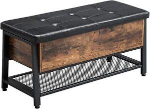 Banc neuf d'entrée bois industriel vintage rétro métal chaussures meuble appoint
