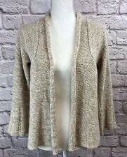 Kimchi & Blue Women's Ivory & Tan Bell Sleeve Knit Open Front Cardigan Size XS