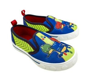 PJ Masks Toddler Boys' Twin Gore Canvas Slip-on Athletic Sneakers Shoes: 7-13