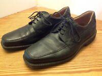 ECCO Derby Apron Toe Mens Black Leather Oxford Laced Shoes EU 43 US 9-9.5 EXC