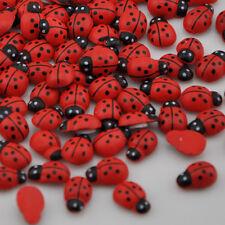 100pcs ladybug Self-Adhesive stickers Easter fridge magnets scrapbooking WB143