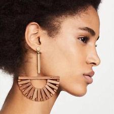 Fashion Women Geometric Wood Earring Stud Earrings Dangle Jewelry Gift