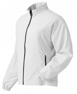 NWT Footjoy Womens Golf Full-Zip Windshirt, White, 35494, Mult. Sizes $85 Retail