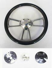 """Bronco F100 F150 F250 F350 Steering Wheel 14"""" Carbon Fiber & Billet Ford Center"""