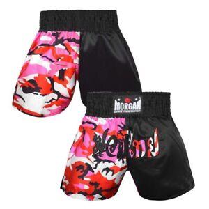 Diabla 50/50 Camo Muay Thai Kick Boxing Pink Shorts - Morgan Sports **FREE DELIV